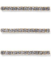 Jennifer Behr - Fete Set Of Three Gold-tone Crystal Hair Pins - Lyst