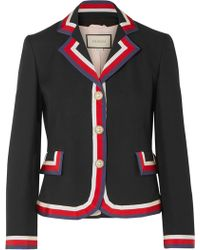 Gucci - Striped Silk And Wool-blend Crepe Blazer - Lyst