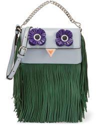 Fendi | Baguette Micro Fringed Leather Shoulder Bag | Lyst