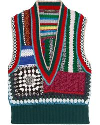 Burberry - Patchwork Crocheted Vest - Lyst