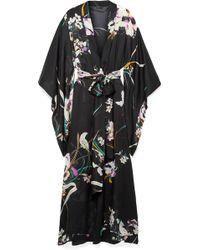 Carine Gilson - Floral-print Silk-georgette Robe - Lyst