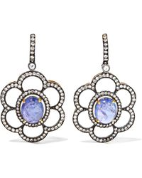 Amrapali - 18-karat Gold, Tanzanite And Diamond Earrings - Lyst