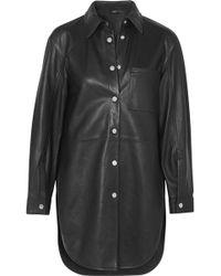 Maje - Leather Shirt - Lyst