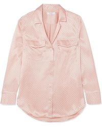 Equipment - Ansley Polka-dot Silk-satin Shirt - Lyst