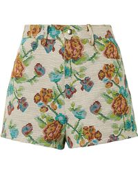 Anna Sui - Dark Side Of The Moon Cotton-blend Jacquard Shorts - Lyst