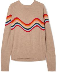 House of Holland - Cutout Intarsia Merino Wool-blend Sweater - Lyst