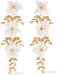 Mallarino - Gaby Gold Vermeil And Silk Earrings - Lyst