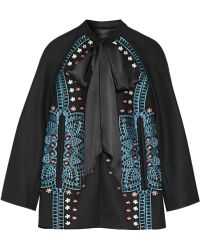 Temperley London - Juniper Satin-trimmed Embroidered Wool And Cashmere-blend Jacket - Lyst