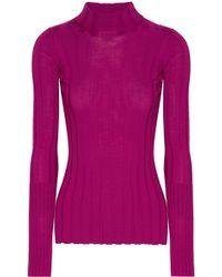 Theory - Ribbed Merino Wool Sweater - Lyst
