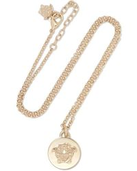 Versace - Gold-tone Necklace - Lyst