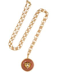 Fred Leighton   Collection 18-karat Gold, Carnelian And Ruby Necklace   Lyst