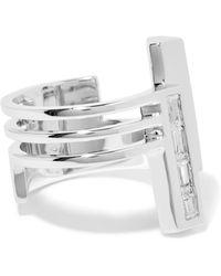 Eddie Borgo - Division Rhodium-plated Cubic Zirconia Ring - Lyst