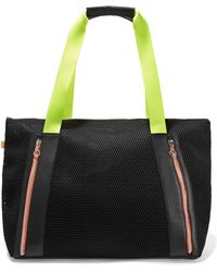 Monreal London - Victory Leather-trimmed Mesh Tote - Lyst