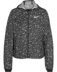 Nike - Shield Printed Shell Hooded Jacket - Lyst