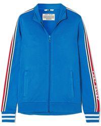 Tory Sport - Striped Stretch-jersey Track Jacket - Lyst