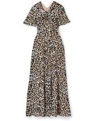 Temperley London - Wild Cat Cutout Leopard-print Jersey Maxi Dress - Lyst