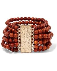 Rosantica - Arizona Wood And Gold-tone Bracelet - Lyst