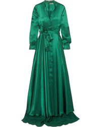 Alexis Mabille - Bow-detailed Embellished Duchesse-satin Gown - Lyst