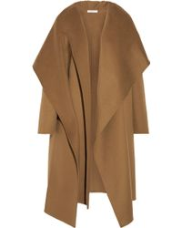 Barbara Casasola - Draped Wool And Alpaca-blend Coat - Lyst