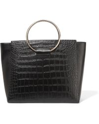Little Liffner - Ring Croc-effect Leather Tote - Lyst