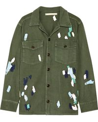Bliss and Mischief - Mitchell Embroidered Cotton-twill Jacket - Lyst