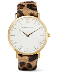 Larsson & Jennings - Lugano Leopard-print Calf Hair And Gold-plated Watch - Lyst