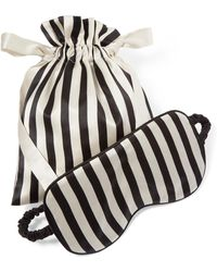 Olivia Von Halle - Nika Reversible Striped Silk-satin Sleep Mask - Lyst