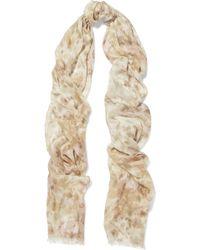 Aerin - Printed Modal And Silk-blend Scarf - Lyst