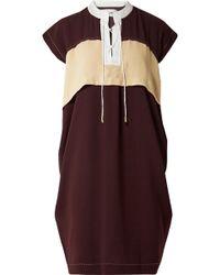 Carven - Color-block Lace-up Crepe Dress - Lyst