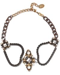 Erickson Beamon - The Affair Gold-plated, Swarovski Crystal And Faux Pearl Necklace - Lyst