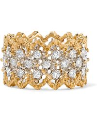 Buccellati - Rombi 18-karat Yellow And White Gold Diamond Ring - Lyst