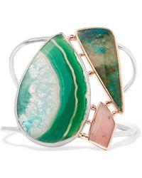 Melissa Joy Manning - 14-karat Gold, Sterling Silver And Multi-stone Bracelet - Lyst