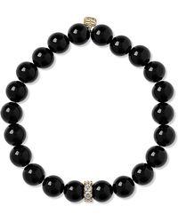 Sydney Evan - Onyx, Diamond And 14-karat Gold Bracelet Gold One Size - Lyst