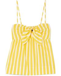 J.Crew | Mireille Knotted Striped Cotton-poplin Camisole | Lyst