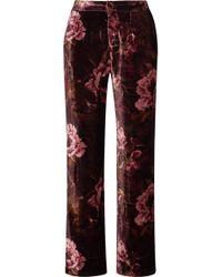 F.R.S For Restless Sleepers - Pantalon De Pyjama En Velours à Imprimé Fleuri Crono - Lyst