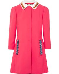 Mary Katrantzou - Mason Embellished Wool-blend Coat - Lyst