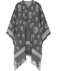 Alexander McQueen - Reversible Intarsia Wool And Cashmere-blend Scarf - Lyst