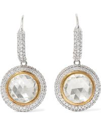 Amrapali - 18-karat Yellow And White Gold Diamond Earrings - Lyst