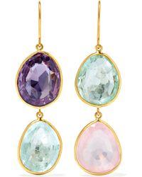 Pippa Small - 18-karat Gold Multi-stone Earrings - Lyst