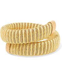 Carolina Bucci - Caro Gold-plated And Lurex Bracelet - Lyst