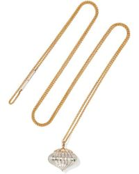 Alice Cicolini - Temple 9-karat Gold, Sterling Silver And Sapphire Necklace - Lyst