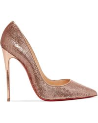 Christian Louboutin - So Kate 120 Sequined Canvas Pumps - Lyst