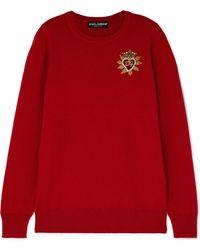 Dolce & Gabbana - Embellished Cashmere Sweater - Lyst