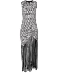 Proenza Schouler - Fringed Woven Maxi Dress - Lyst