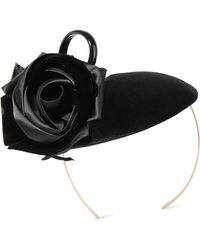 Philip Treacy - Rosette And Bow-embellished Velvet Headpiece - Lyst