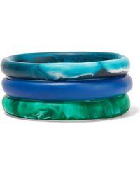 Dinosaur Designs - Wishbone Set Of Three Resin Bracelets - Lyst