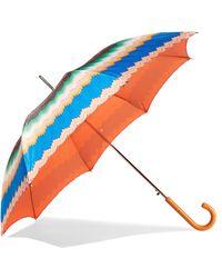Missoni - Leather-trimmed Printed Umbrella - Lyst