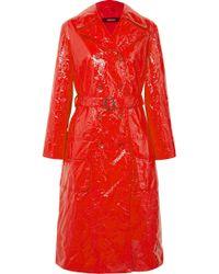 Sies Marjan - Exclusive Bessie Crinkled-vinyl Trench Coat - Lyst