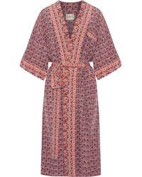 Sea - Printed Silk Kimono - Lyst