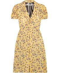 Junya Watanabe - Floral-print Chiffon And Lamé Dress - Lyst
